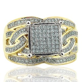 14mm Wide Wedding Ring With Diamond and Gold 10K 0.40ctw (i2/i3, I/j)