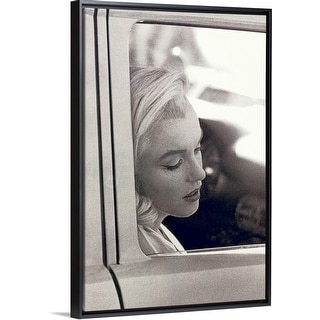 """Marilyn Monroe ()"" Black Float Frame Canvas Art"