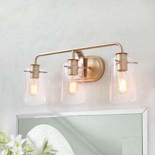 "Modern 3-lights Bathroom Vanity Lighting Golden Wall Sconce for Powder Room - L22.5""xW5.5""x H 9"""