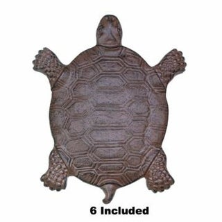 Set of 6 Cast Iron Turtle Garden Stepping Stones