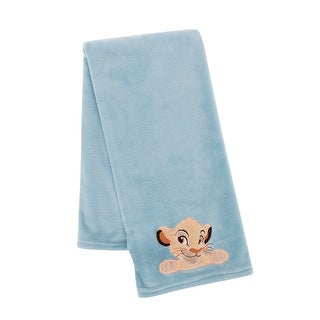 Disney Baby Lion King Adventure Blue Simba Soft Minky Baby Blanket by Lambs & Ivy