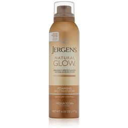 Jergens Natural Glow Foaming Daily Moisturizer, Medium to Tan 6.25 oz