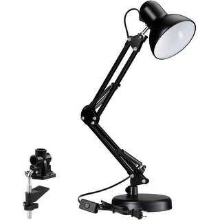 "Tâche 18"" Spring Balanced Swing Arm Desk Lamp with Metal Clamp"