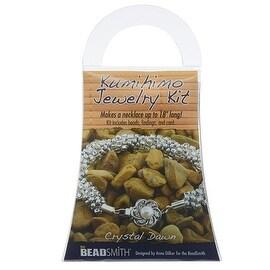 BeadSmith Kumihimo Bracelet Jewelry Kit, Do It Yourself, Crystal Dawn