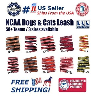 Pets First NCAA Dog / Cat Leash - Licensed, Durable & Heavy Duty Leash