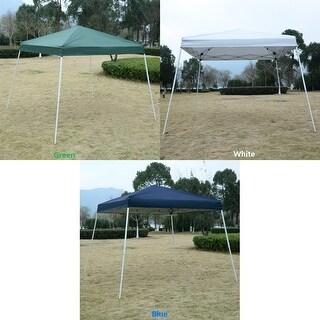Gymax 10'x 10' EZ POP UP Tent Gazebo Wedding Party Canopy Shelter