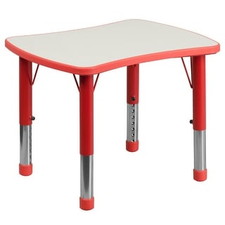 "21.875""W x 26.625""L Rectangular Plastic Activity Table with Grey Top"