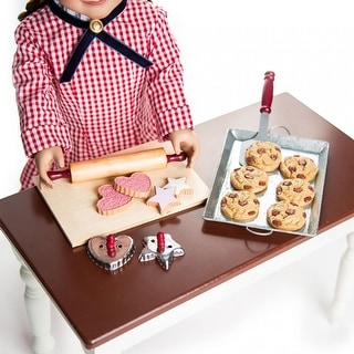 The Queen's Treasures 18 in Doll Food Accessory,16 Pc Cookie Baking Set, Cookies and Bake Tools, Compatible For American Girl