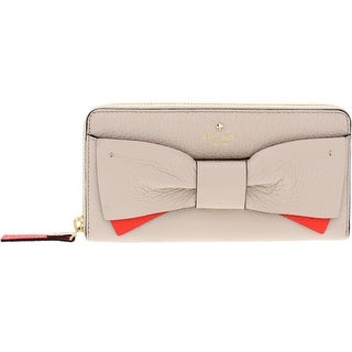 Kate Spade New York Eden Lane Lacey Leather Bow Zip Around Wallet - O/S