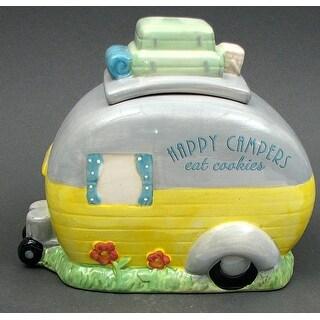 """""""Happy Campers Eat Cookies"""" Cookie Jar"""