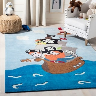 Safavieh Handmade Kids Bengi Pirate Ship Polyester Rug