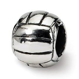 Sterling Silver Reflections Kids Volleyball Bead (4mm Diameter Hole)