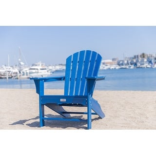 LuXeo Hampton Poly Outdoor Patio Adirondack Chair (2 Pack)