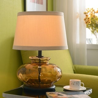 """Jessup 21"""" 3-Way Table Lamp - Brown Glass"""