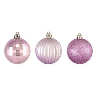 "100ct Purple Shatterproof 3-Finish Christmas Ball Ornaments 2.5"" (63.5mm)"