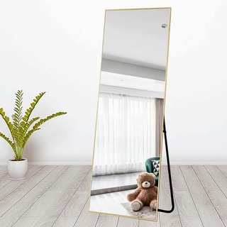 Carson Carrington Paaskynen Aluminum Alloy Thin Frame Full Length Floor Mirror