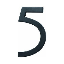 """HY-KO PRODUCTS CO FM-6/5 FLOATING MOUNT HOUSE NUMBER 6"""" BLACK #5"""
