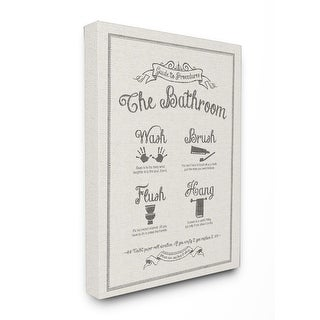 Guide to Bathroom Linen Look Stretched Canvas Wall Art