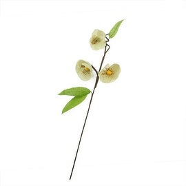 """28"""" Brown Cream and Green Decorative Spring Floral Artificial Pick"""