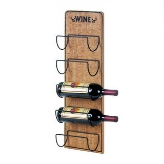 Natural Rustic Wine Sign Bottle Holder