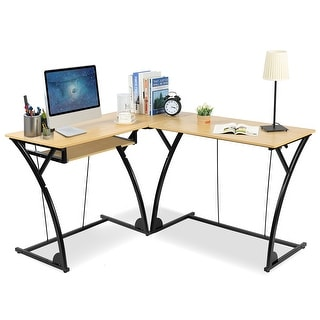 Costway L-Shaped Home Office Corner Desk Computer PC Laptop Table