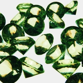 "CYS® Acrylic Crystal Diamond Confetti Table Scatter 3/4"" 1 Lb. Bag - Apple Green"