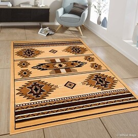 "Allstar Brown Woven High Quality Rug. Traditional. Persian. Flower. Western. Design Area Rug (3' 9"" x 5' 1"")"