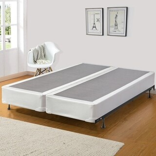 ONETAN, 8-Inch Fully Assembled Wood Split Box Spring / Foundation For Mattress, Queen Size