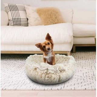 Bessie and Barnie Ultra Plush Blondie Luxury Shag Deluxe Dog / Pet Cuddle Pod Bed - 30""
