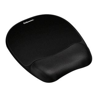 Fellowes Inc. 9176501 Fellowes Memory Foam Mouse Pad/Wrist Rest- Black - 9.3 x 8 x 1 Dimension - Black -