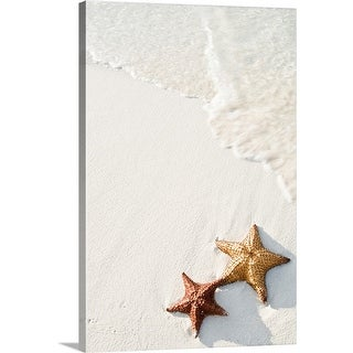 """Starfish on tropical beach."" Canvas Wall Art"