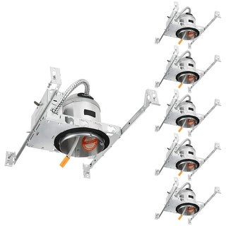 TP24 4 Inch New Construction Recessed Housing with J-Box, 6 Pack