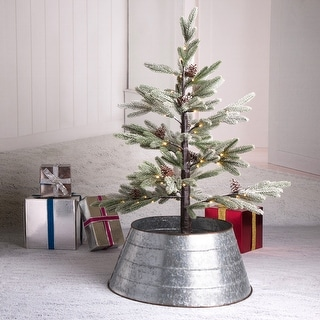"Glitzhome Christmas 22""D Metal Tree Collar"