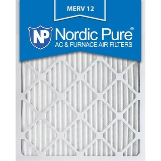 Nordic Pure 16x20x1 Pleated MERV 12 AC Furnace Air Filters Qty 12