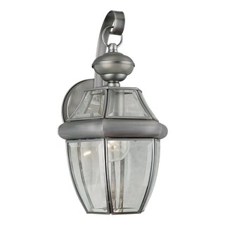 """Forte Lighting 19007-01 Single Light 14"""" Tall Outdoor Wall Sconce with"""