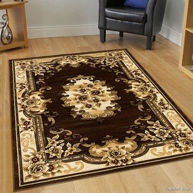 "Allstar Brown Woven Hand Classic Persian Design Area Rug (3' 9"" x 5' 1"")"