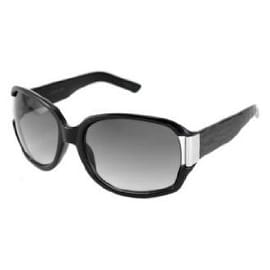Kenneth Cole Reaction Womens Rectangle Black Plastic Sunglass, Gradient Lens KC1052 B5