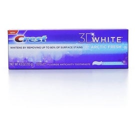 Crest 3D White Fluoride Anticavity Toothpaste, Icy Cool Mint 4 oz