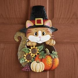Harvest Pilgrim Cat Hanging Door Decor