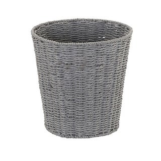 Household Essentials Grey Paper Rope Waste Basket Trash Bin