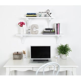Kate and Laurel Corblynd Traditional Wood Wall Shelf
