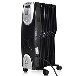 Costway 1500W Electric Oil Filled Radiator Heater Safe Digital