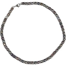 D'AMA Single Strand Womens Italian Freshwater Cultured Pearl Necklace