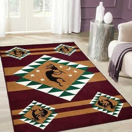 """Allstar Burgundy Woven High Quality Rug. Traditional. Persian. Flower. Western. Design Area Rugs (3' 9"""" x 5' 1"""")"""