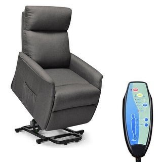 Electric Power Lift Massage Chair Recliner Sofa Fabric Padded Seat