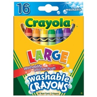 Crayola Ultra Clean Washable Color Max Crayons, Large Size, Set of 16