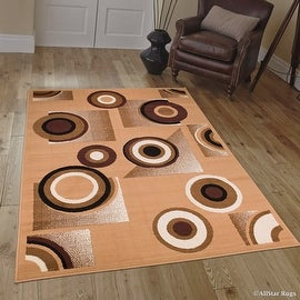 Allstar Brown Area Rug. Contemporary. Abstract. Traditional. Geometric. Formal. Shapes. Squares (4x6