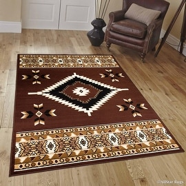 "Allstar Dark Brown Woven High Quality Rug. Traditional. Persian. Flower. Western. Design Area Rug (3' 9"" x 5' 1"")"