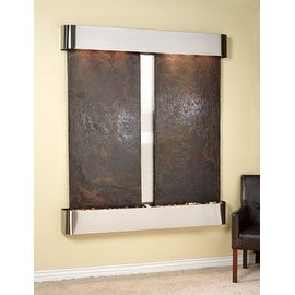 Adagio Cottonwood Falls Fountain w/ Rajah Natural Slate in Stainless Steel Finis