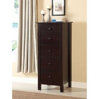 Furniture of America Wal Solid Wood 5-drawer Storage Chest